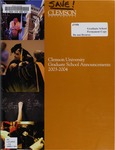 Clemson Graduate School Catalog, 2003-2004 by Clemson University