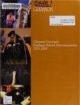 Clemson Graduate School Catalog, 2003-2004