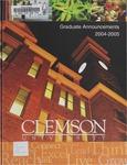 Clemson Graduate School Catalog, 2004-2005