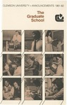 Clemson Graduate School Catalog, 1981-1982 by Clemson University