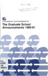 Clemson Graduate School Catalog, 1980-1981