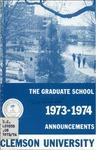 Clemson Graduate School Catalog, 1973-1974