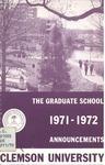Clemson Graduate School Catalog, 1971-1972