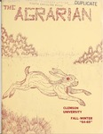 The Agrarian Vol. 22 No. 1 by Clemson University