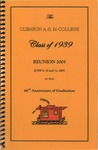 Clemson A&M College Class of 1939 Reunion Program 2005