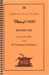 Clemson A&M College Class of 1939 Reunion Program 2008