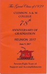 Clemson A&M College Class of 1939 Reunion Program 2017 by Clemson University