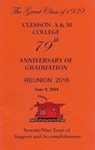 Clemson A&M College Class of 1939 Reunion Program 2018 by Clemson University